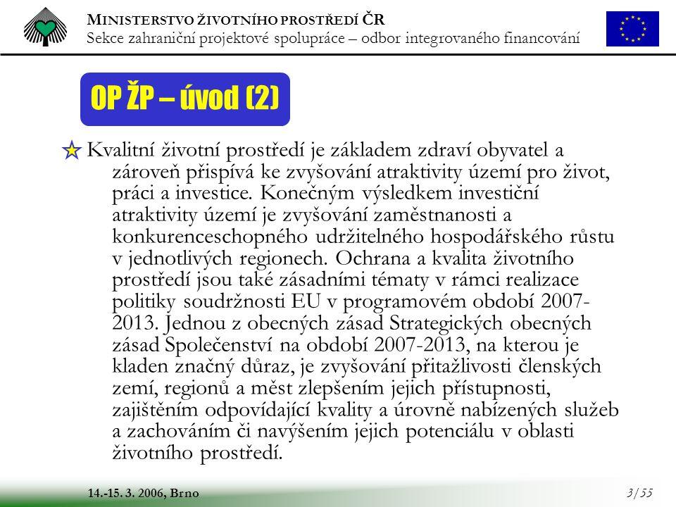 OP ŽP – úvod (2)