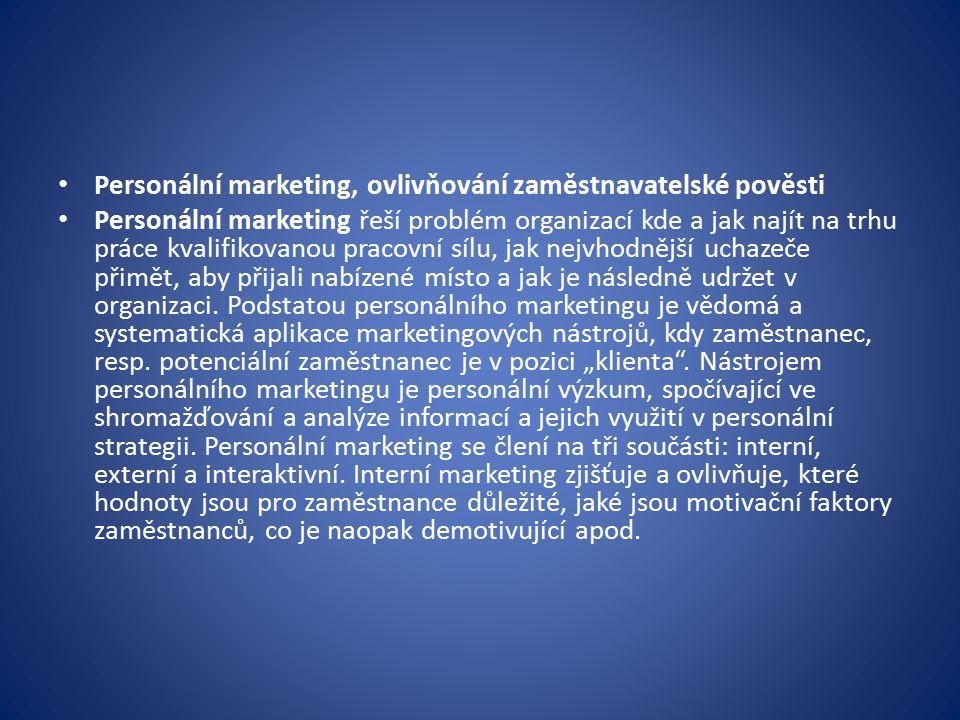 Personální marketing, ovlivňování zaměstnavatelské pověsti