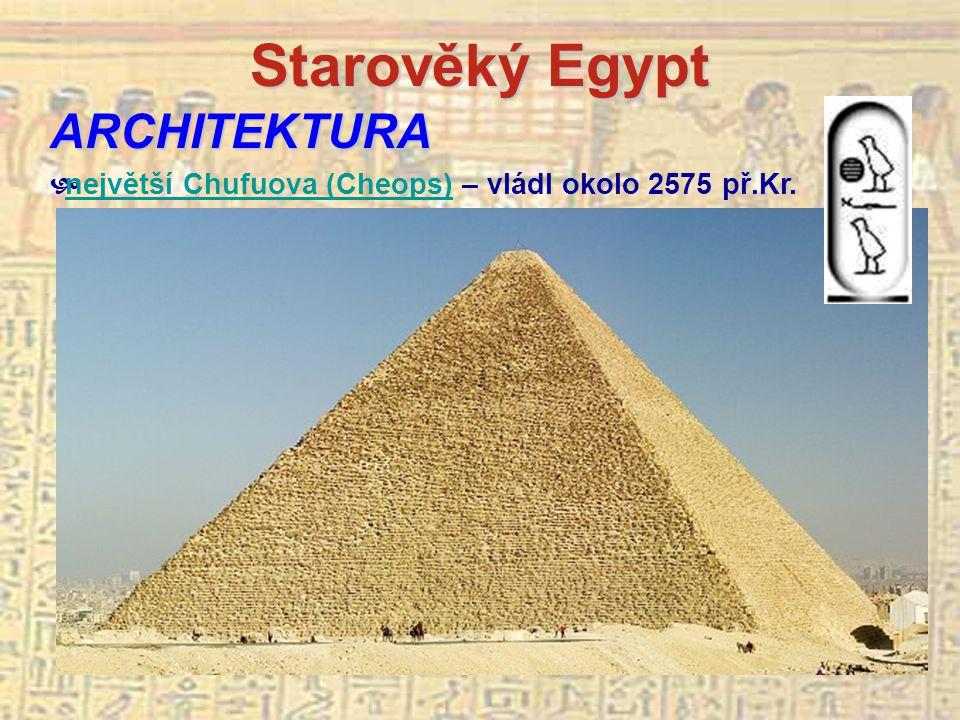 Starověký Egypt ARCHITEKTURA
