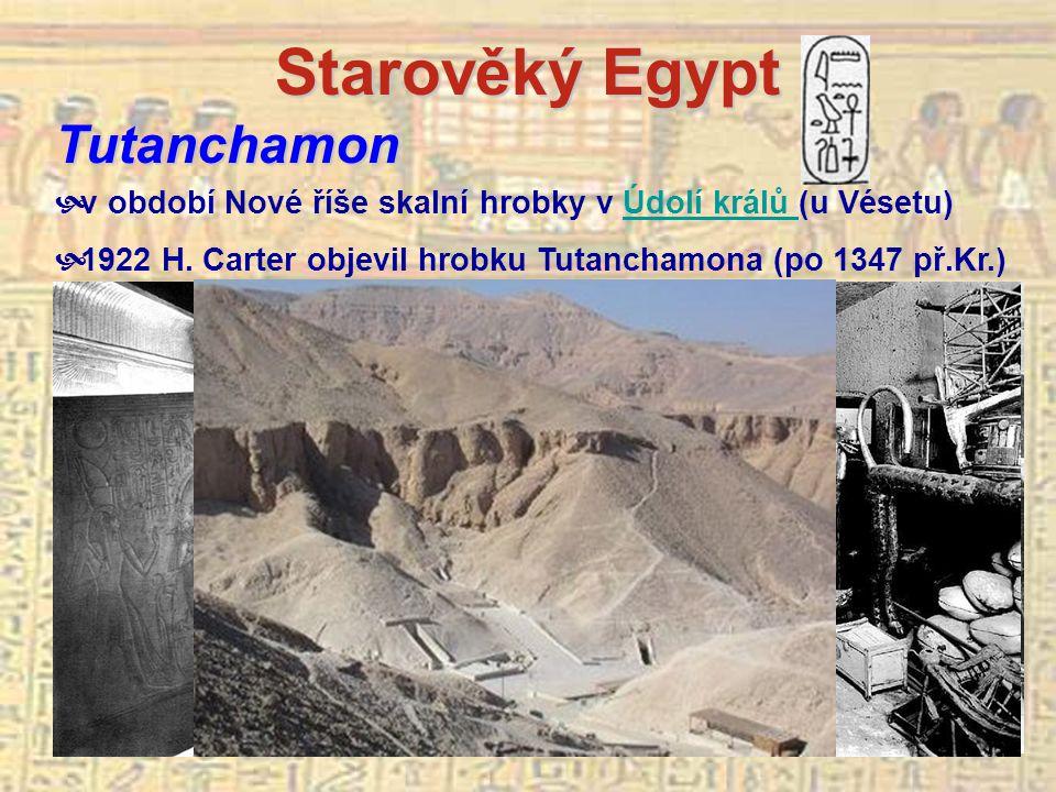 Starověký Egypt Tutanchamon