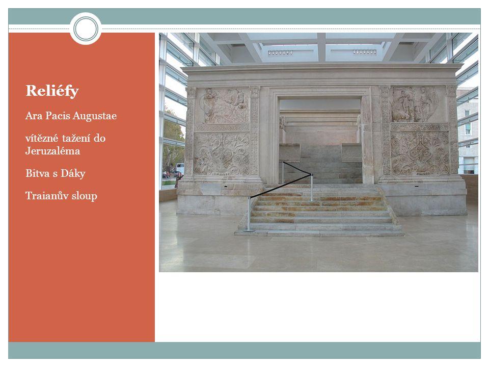 Reliéfy Ara Pacis Augustae vítězné tažení do Jeruzaléma Bitva s Dáky