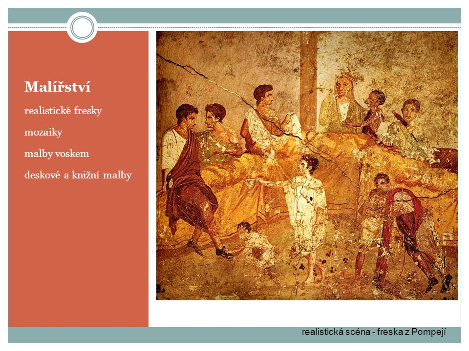 Malířství realistické fresky mozaiky malby voskem