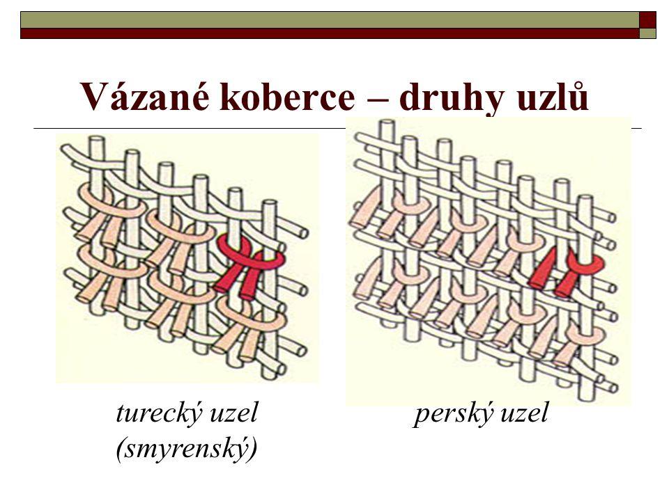 Vázané koberce – druhy uzlů