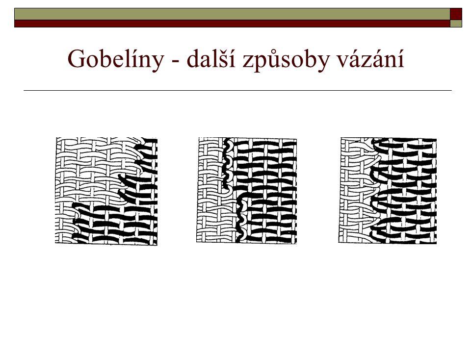 Gobelíny - další způsoby vázání