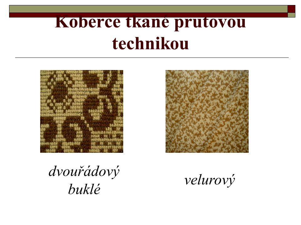 Koberce tkané prutovou technikou