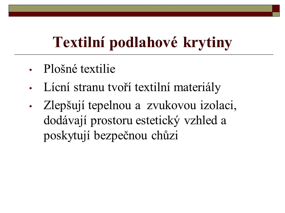 Textilní podlahové krytiny
