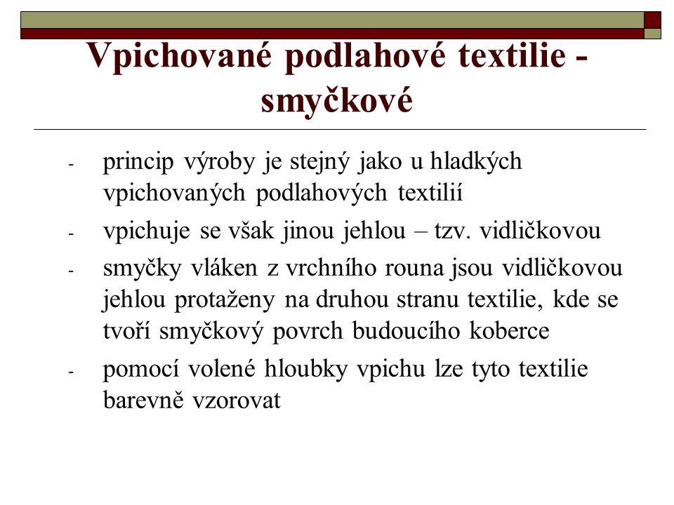 Vpichované podlahové textilie - smyčkové