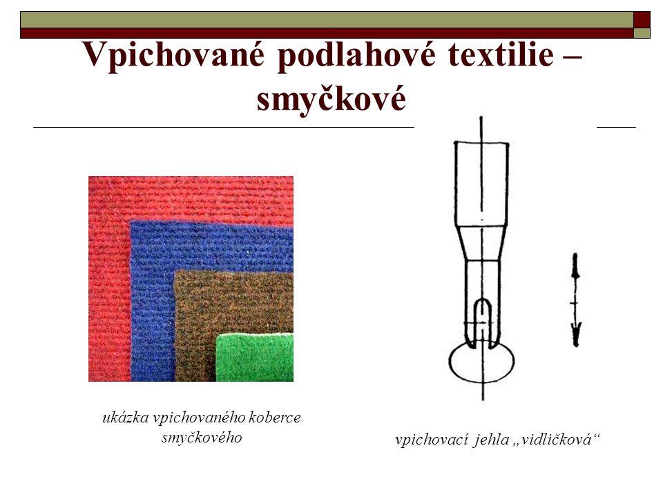 Vpichované podlahové textilie – smyčkové