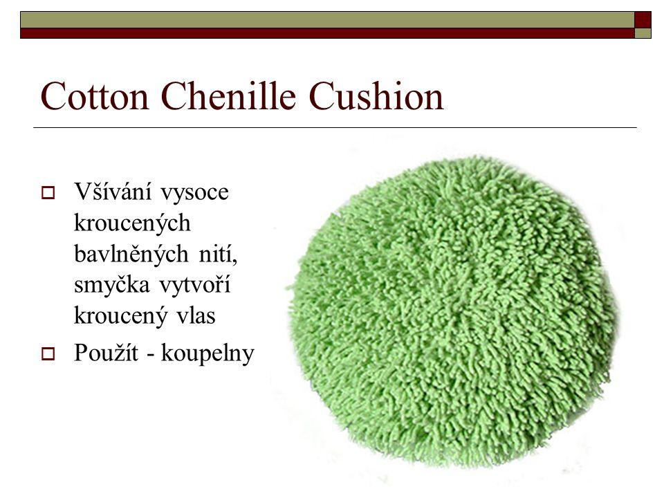 Cotton Chenille Cushion