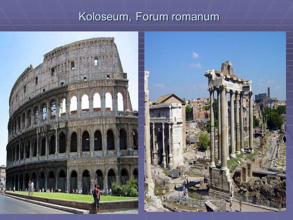 Koloseum, Forum romanum
