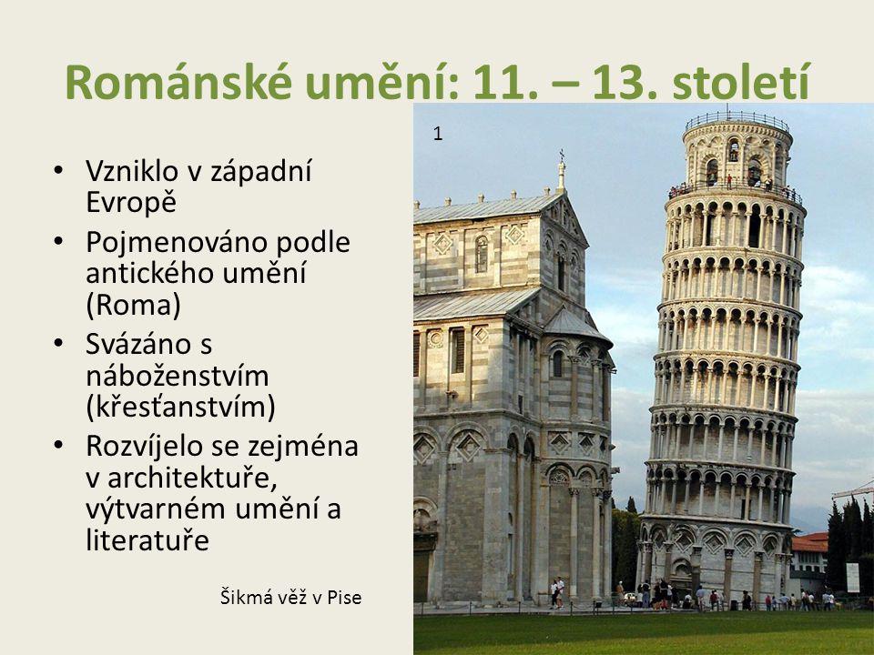 Románské umění: 11. – 13. století