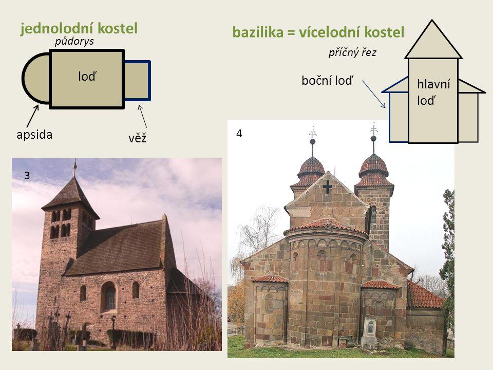 bazilika = vícelodní kostel