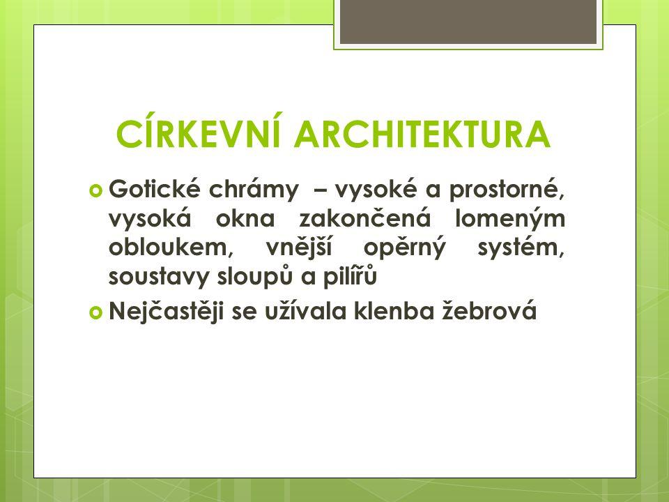CÍRKEVNÍ ARCHITEKTURA