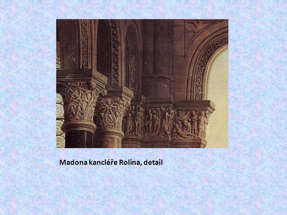 Madona kancléře Rolina, detail