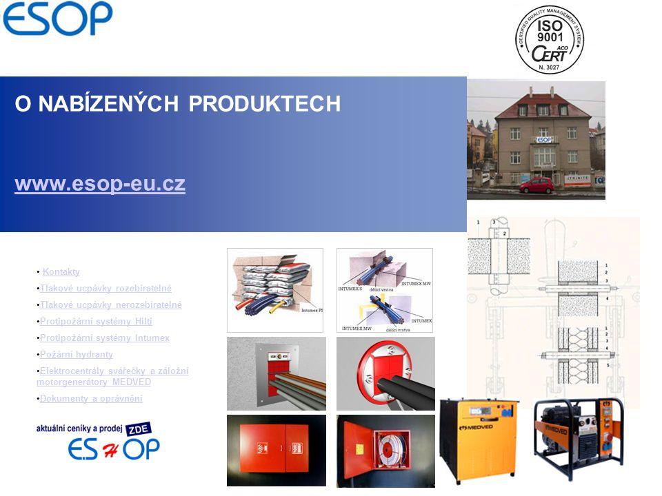 O NABÍZENÝCH PRODUKTECH www.esop-eu.cz