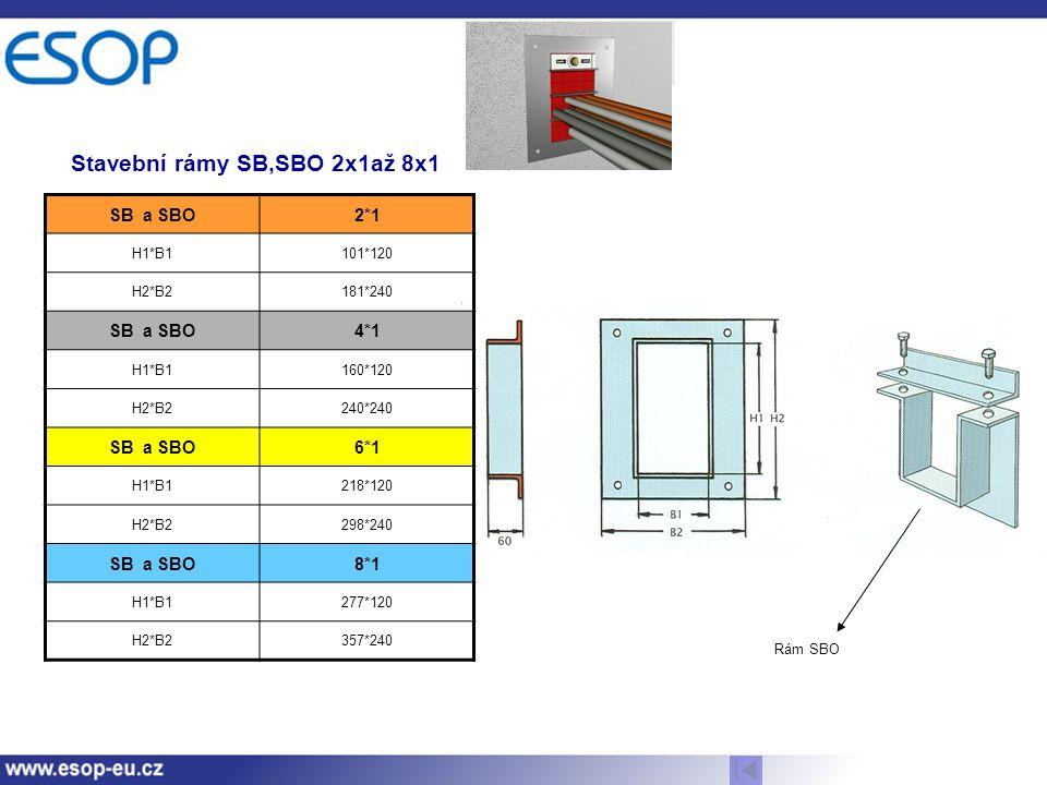 Stavební rámy SB,SBO 2x1až 8x1