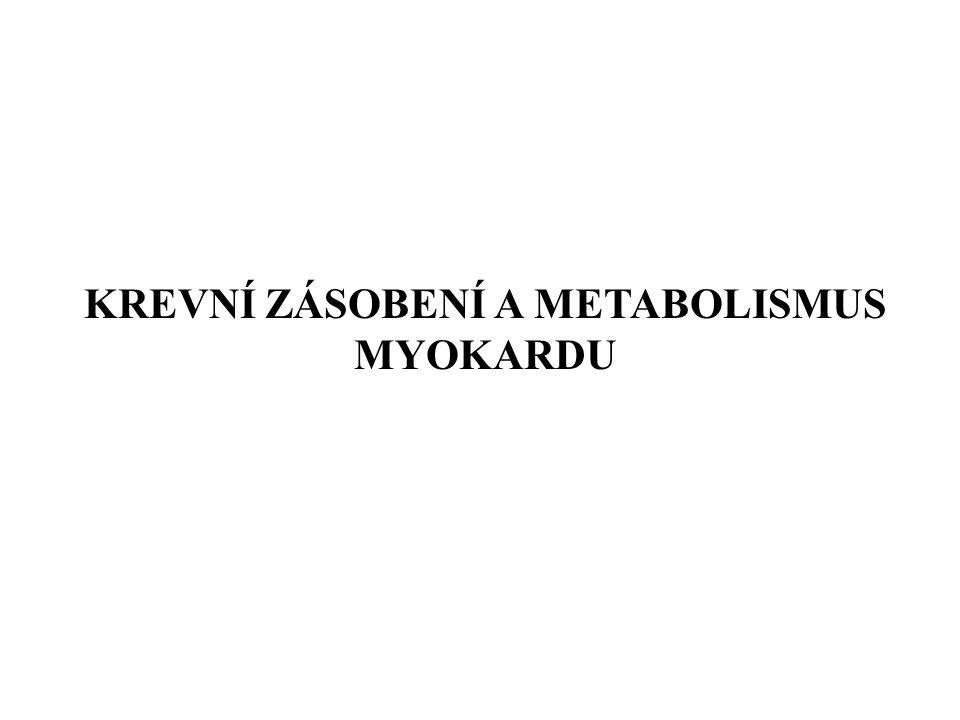 KREVNÍ ZÁSOBENÍ A METABOLISMUS MYOKARDU