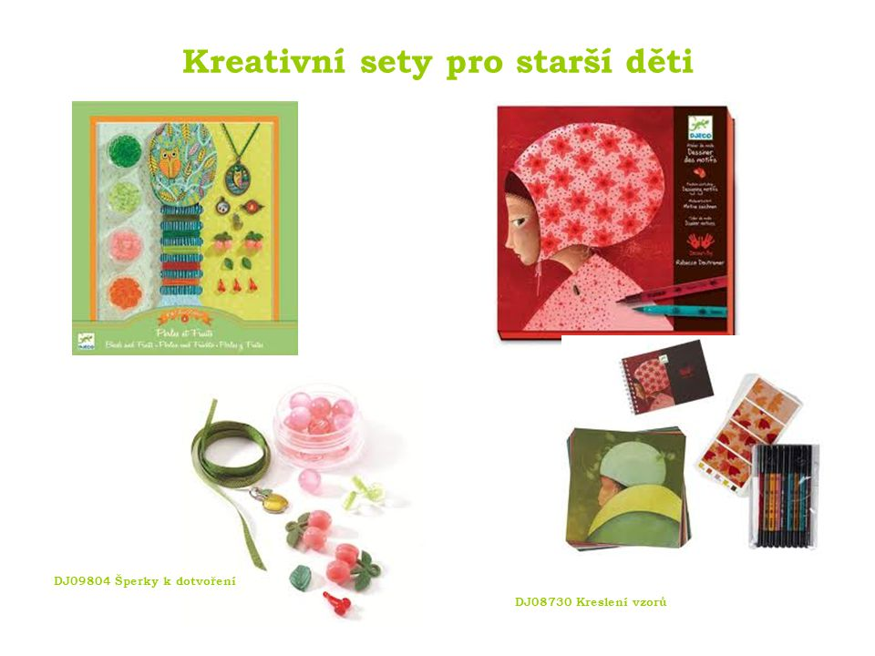 Kreativní sety pro starší děti