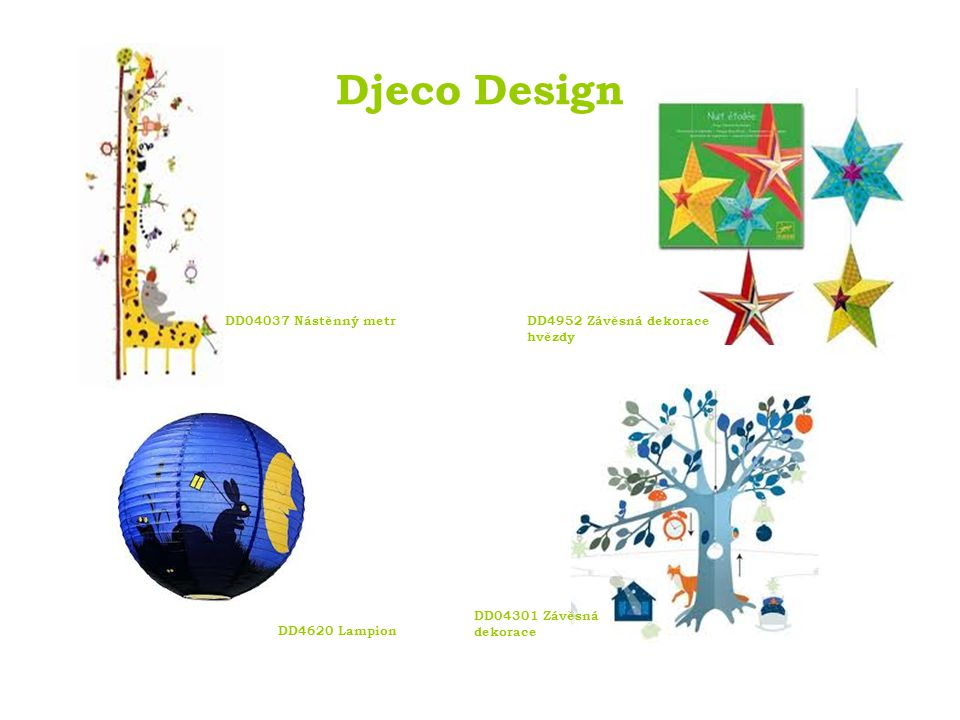 Djeco Design DD04037 Nástěnný metr DD4952 Závěsná dekorace hvězdy
