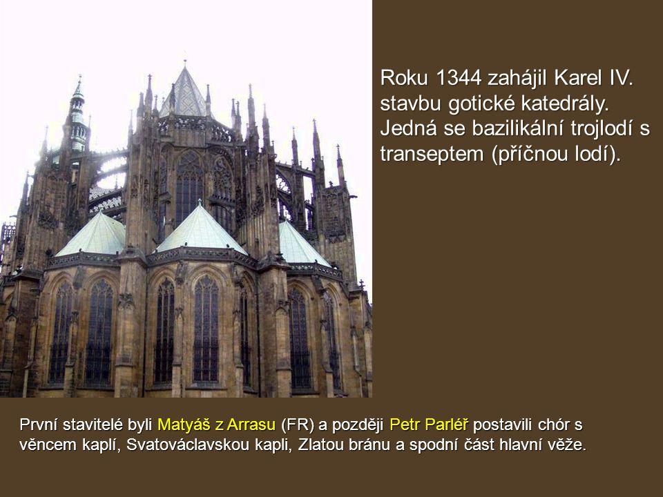 stavbu gotické katedrály.