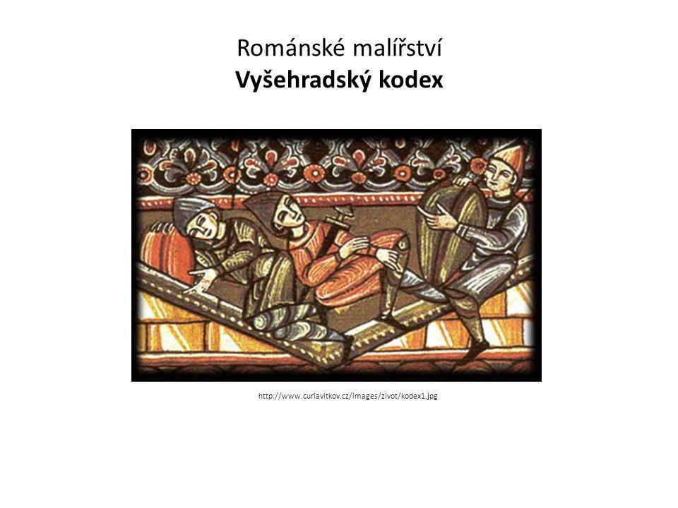 Románské malířství Vyšehradský kodex