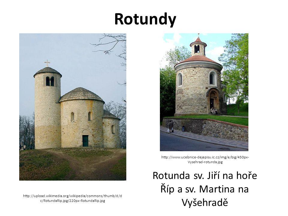 Rotunda sv. Jiří na hoře Říp a sv. Martina na Vyšehradě