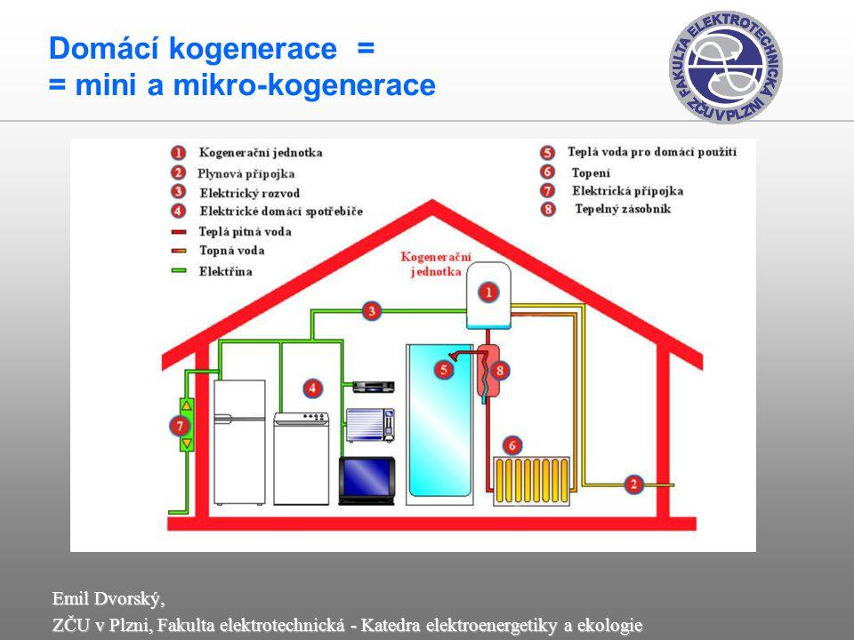 Domácí kogenerace = = mini a mikro-kogenerace