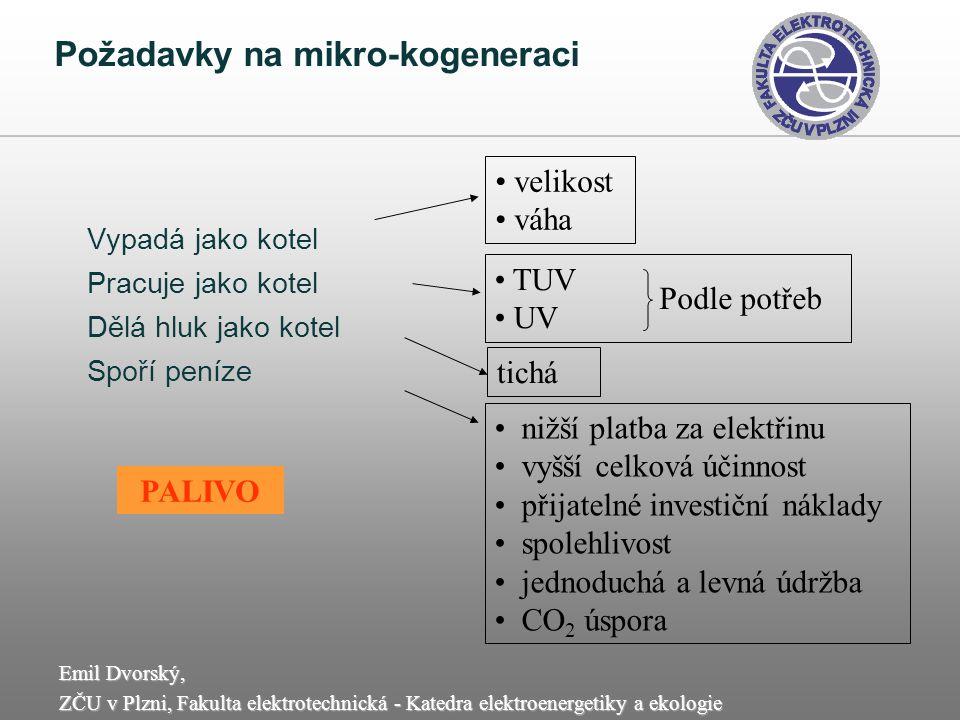Požadavky na mikro-kogeneraci