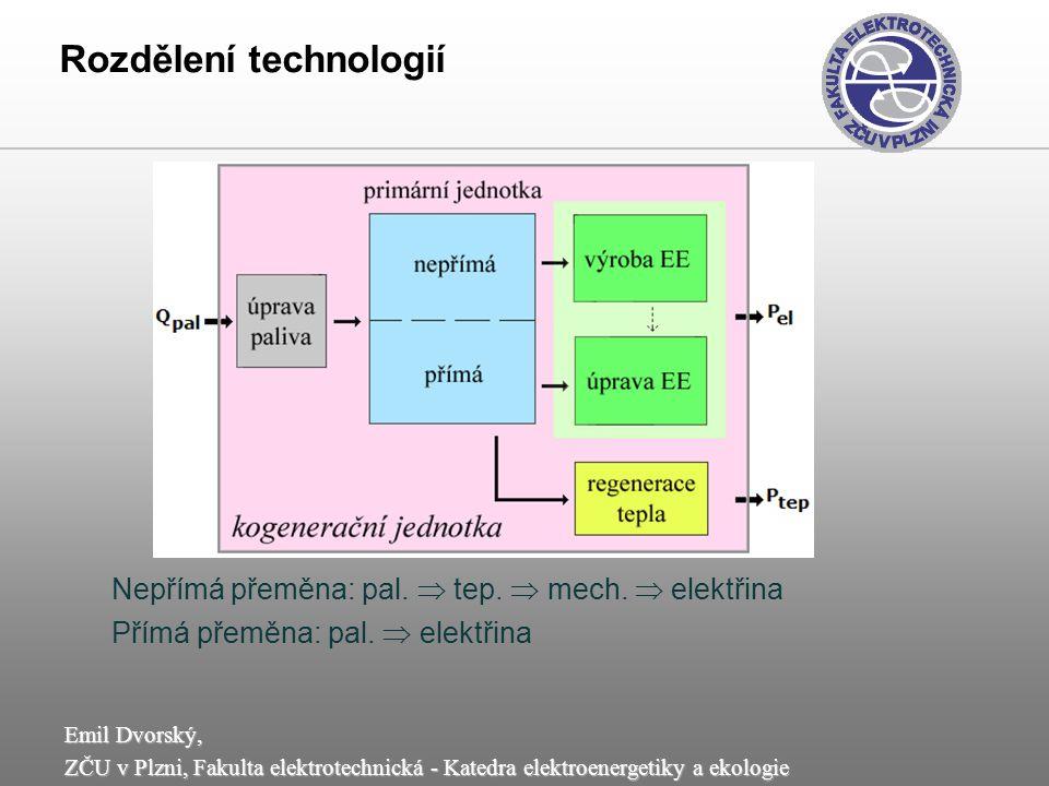 Rozdělení technologií
