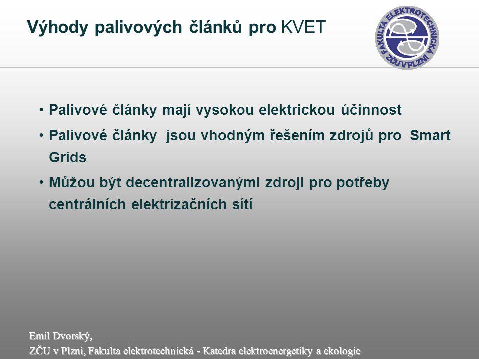 Výhody palivových článků pro KVET