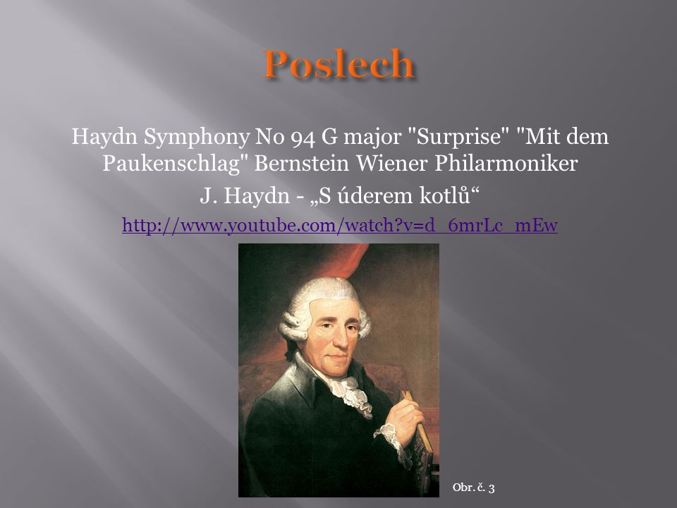 """J. Haydn - """"S úderem kotlů"""