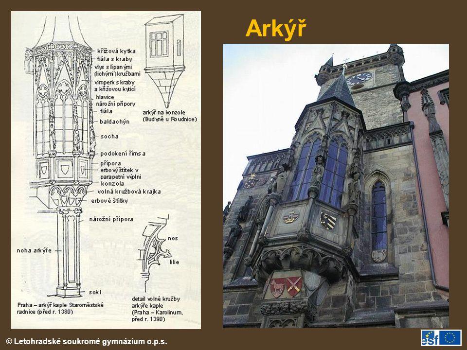 Arkýř Gotický arkýř Staroměstské radnice