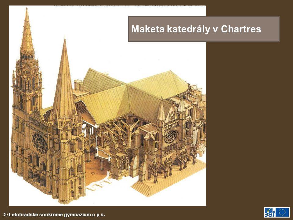 Maketa katedrály v Chartres