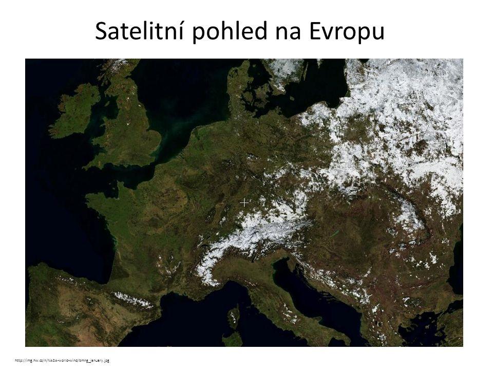 Satelitní pohled na Evropu
