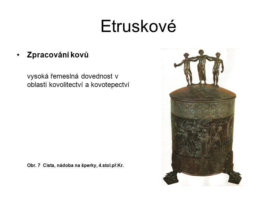 Etruskové Zpracování kovů