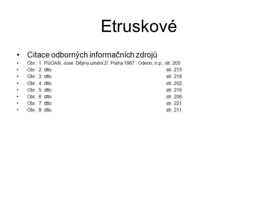 Etruskové Citace odborných informačních zdrojů