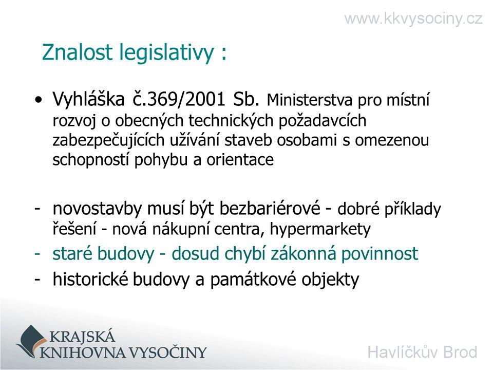 Znalost legislativy :