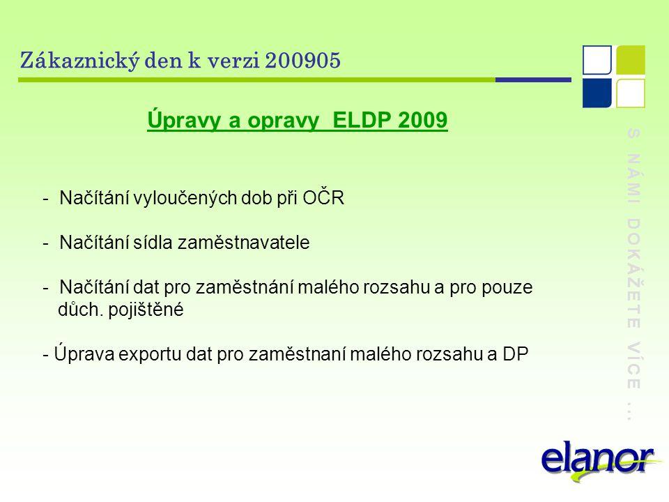 Zákaznický den k verzi 200905 - Načítání vyloučených dob při OČR