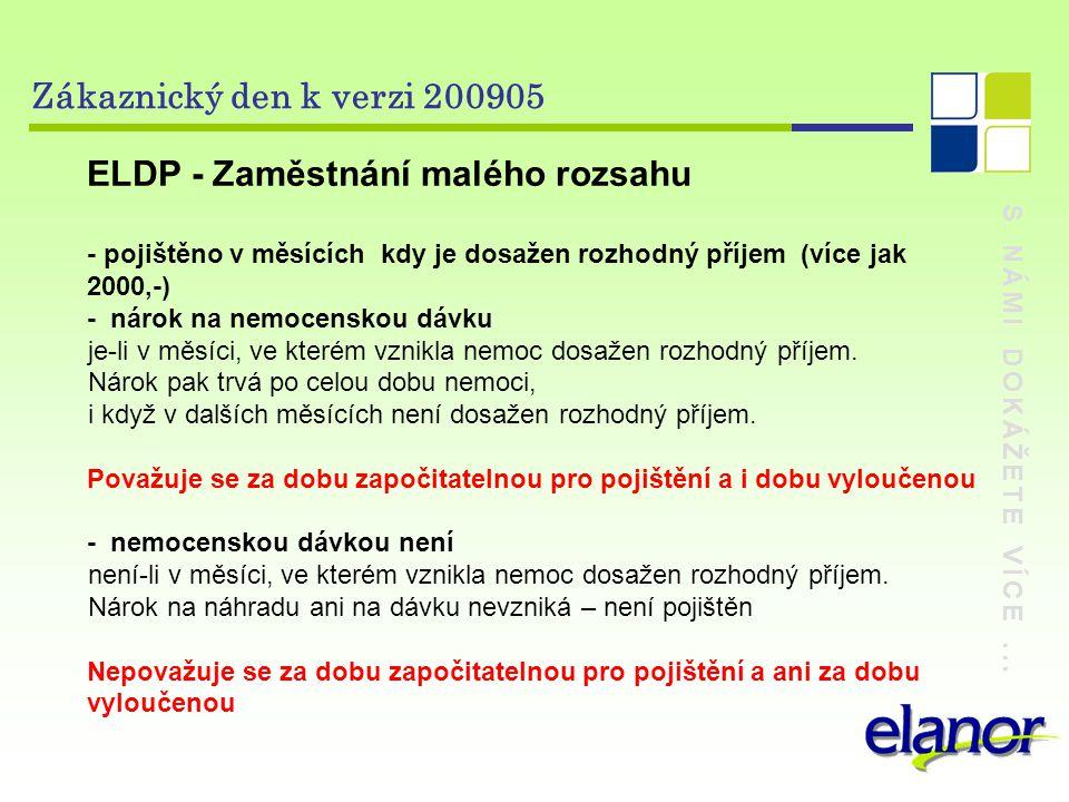 ELDP - Zaměstnání malého rozsahu