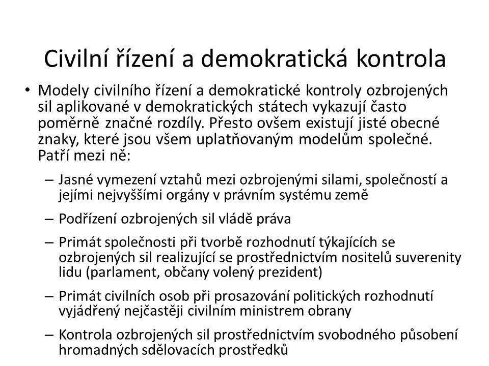 Civilní řízení a demokratická kontrola