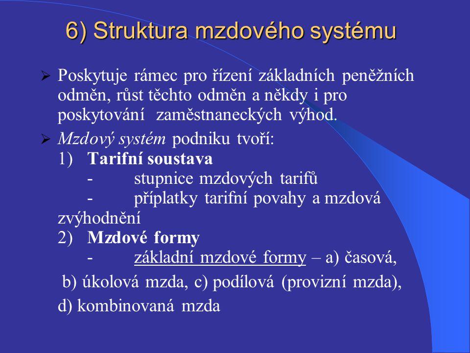 6) Struktura mzdového systému