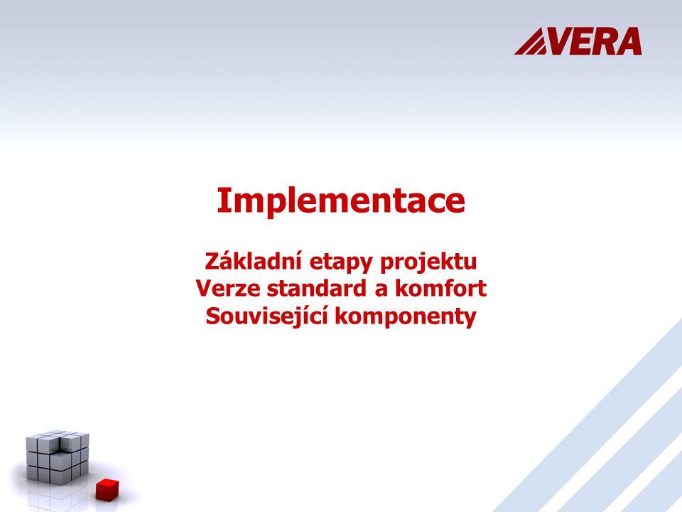 Implementace Základní etapy projektu Verze standard a komfort Související komponenty