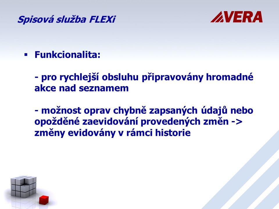 Spisová služba FLEXi