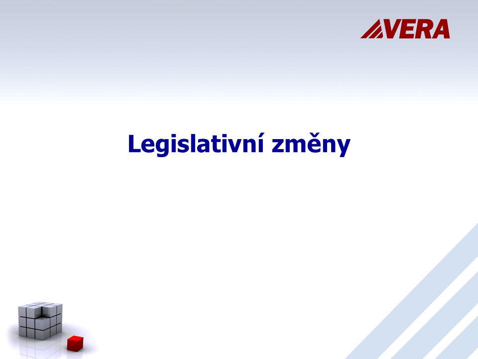 Legislativní změny 5