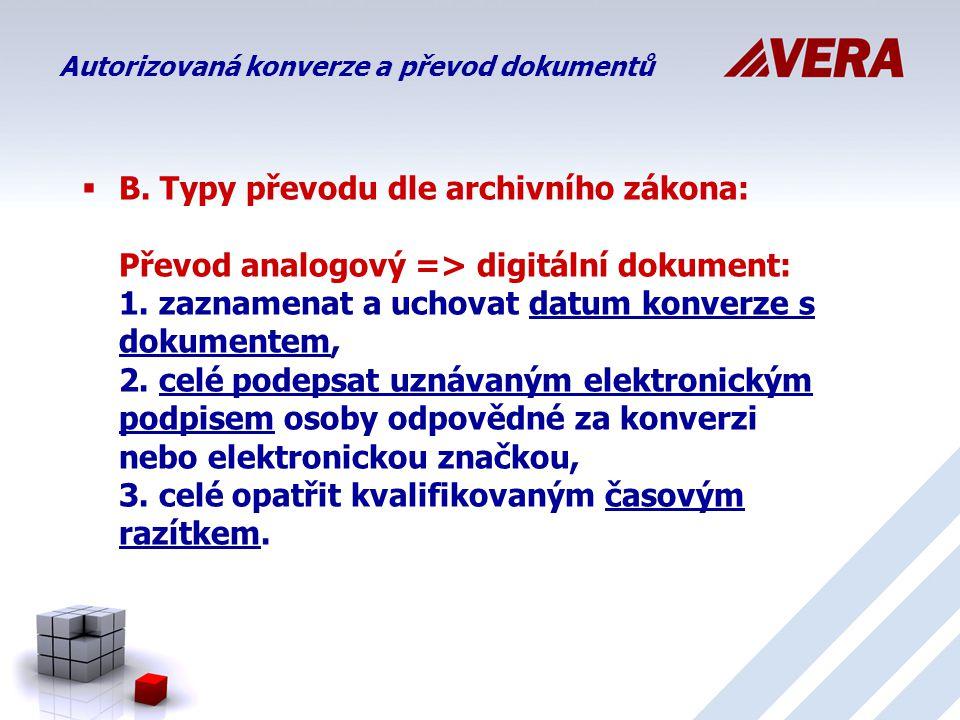 Autorizovaná konverze a převod dokumentů