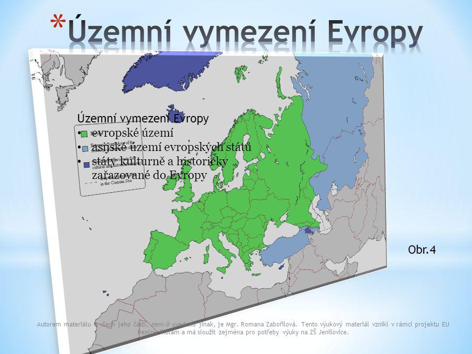 Územní vymezení Evropy