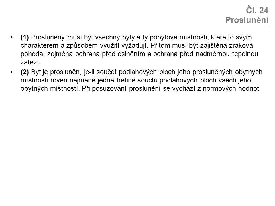 Čl. 24 Proslunění