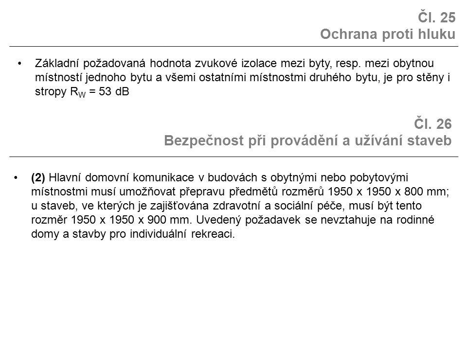 Čl. 26 Bezpečnost při provádění a užívání staveb