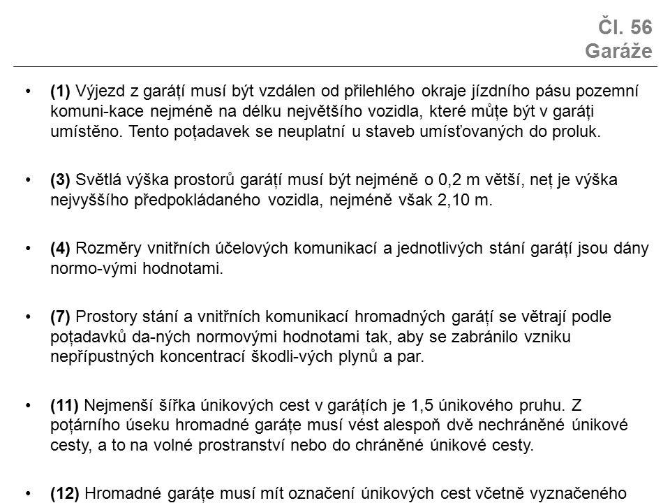 Čl. 56 Garáže