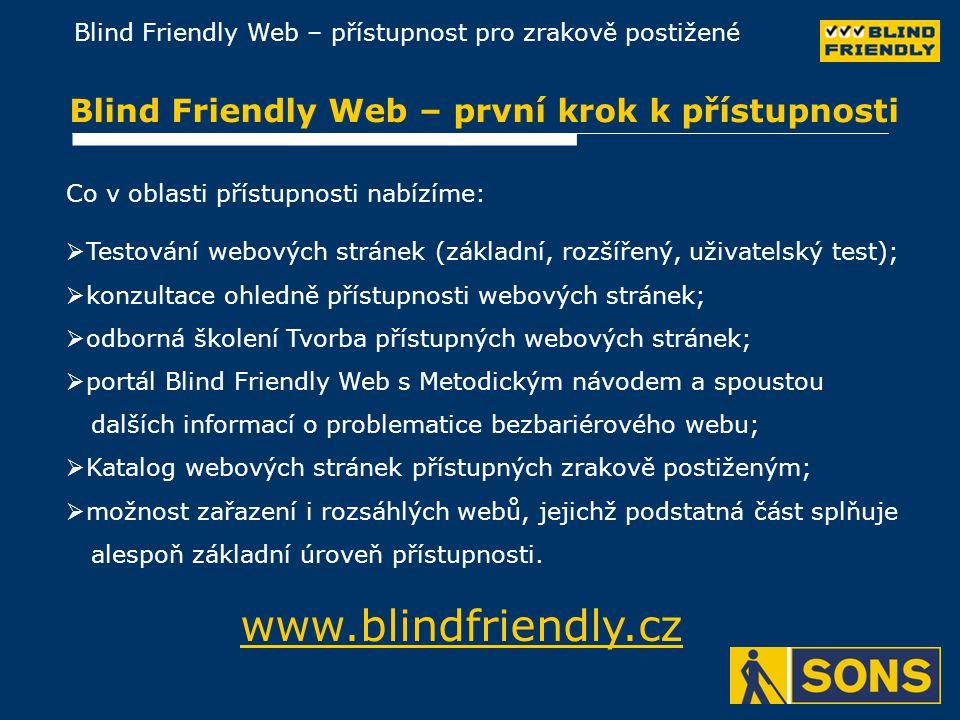 Blind Friendly Web – první krok k přístupnosti